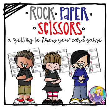 """Rock Paper Scissors """"Getting to Know You"""" Card Game"""