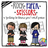 """Rock Paper Scissors """"Get to Know You"""" Icebreaker Game"""