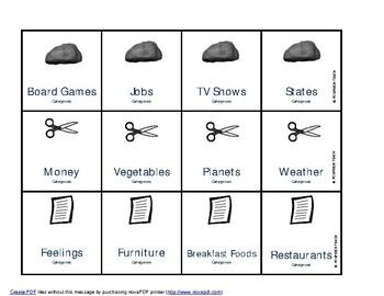 Rock Paper Scissors Language Bundle