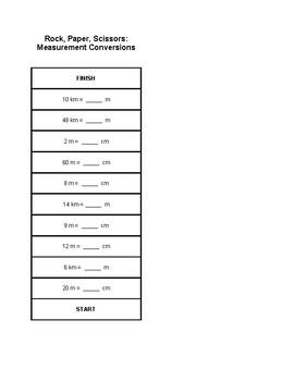 Rock, Paper, Scissors: Measurement Conversions