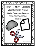 Rock Paper Scissors Medial Consonant Deletion VCV, CVCV, & CVCVC