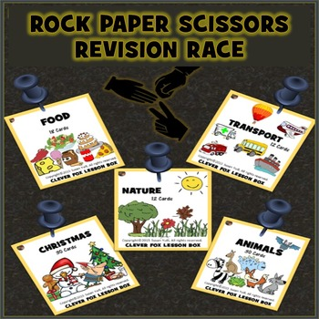 Early Learning Vocabulary - Rock Paper Scissors Race