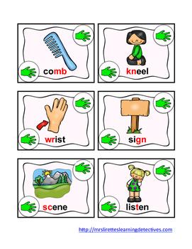 Rock, Paper, Scissors: Silent Consonants {mb, kn, gn, gh, lf, wr, sc, t}
