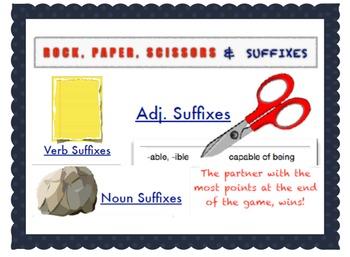 Rock, Paper, Scissors, Suffixes!