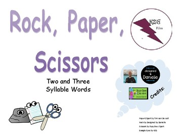 Rock, Paper, Scissors, Two and Three Syllables