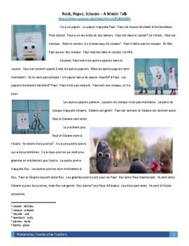 Rock Paper Scissors ad - Movie Talk