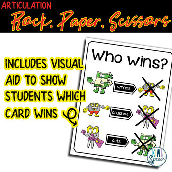 Rock, Paper, Scissors for Articulation - All Sounds BUNDLE