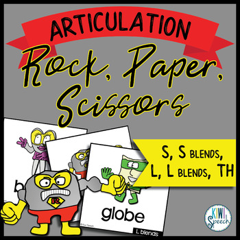 Rock, Paper, Scissors for Articulation - Set II: S, S blends, L, L blends, TH