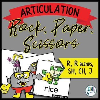 Rock, Paper, Scissors for Articulation - Set III: R, R ble