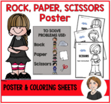 Rock, Paper, and Scissors Poster
