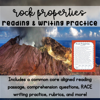 Rock Properties Reading & Writing Practice