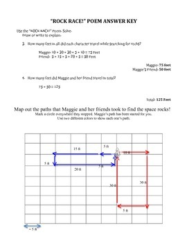 Rock Race Poem & Graphing Worksheet