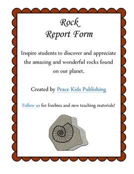 Rock Report Form