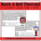 Rock & Roll Themed *Context Clues* Task Cards