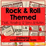 Rock & Roll Themed Math, Reading, & STEM Activities