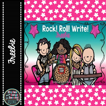 Rock! Roll! Write!  Building Sentences and Stories {Freebie}