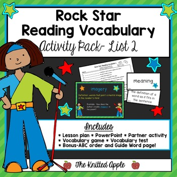 Test Prep: Rock Star Reading Vocabulary{List 2}