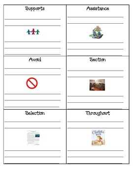 Rock STAAR Vocabulary Journal Pages- 4th grade