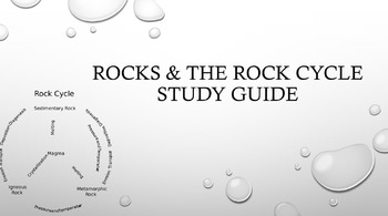 Rocks and the Rock Cycle Study Guide