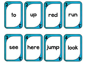 Rock Solo Pre Primer Sight Word Game