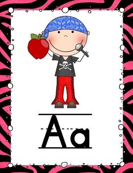 Rock Star Alphabet Posters