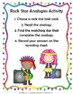 Analogies (loop game, center & worksheet)