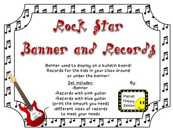 Rock Star Theme ~ Banner & Records