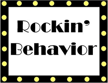 Rock Star Behavior Chart and Report