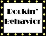 Rock Star Behavior Chart and Report