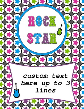 Rock Star Binder Cover-Editable pdf file