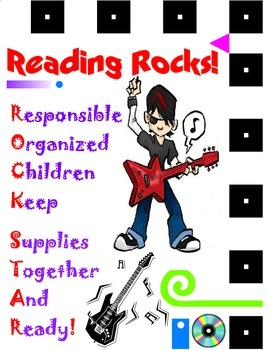 Rock Star Student Binder Cover for Rock-n-Roll Classroom Theme