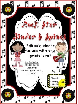 Rock Star Binder and Spine Set (Editable)