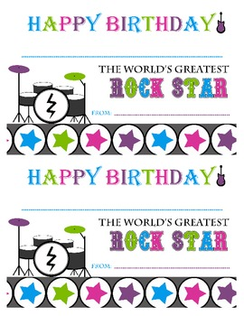 Rock Star Birthday Certificate-Happy Birthday Rock Star