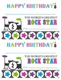 Rock Star Birthday Certificate-Happy Birthday Rock Star