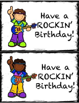 Rock Star Birthday Note Cards