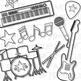 Rock Star (Blue Set) Clip Art (Digital Use Ok!)