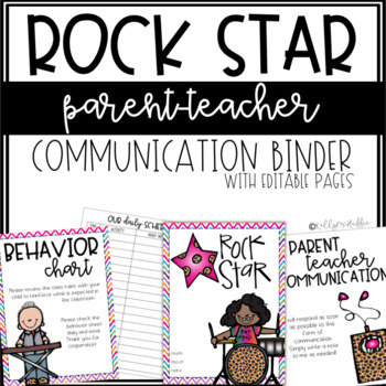 Rock Star Communication Binder - Editable