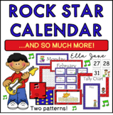 Rock Star Calendar Bulletin Board Set