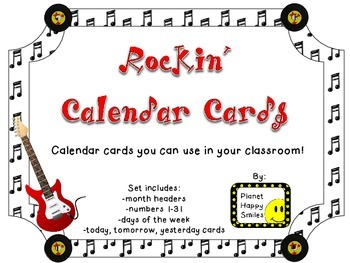 Rock Star Calendar Set~ Rock and Roll Theme