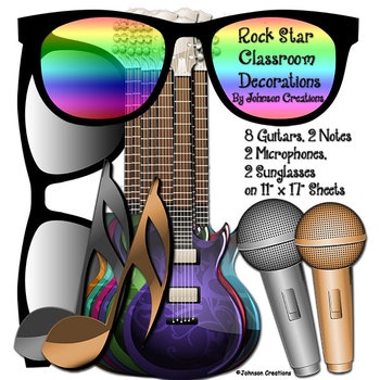 Rock Star Classroom Decorations Kit
