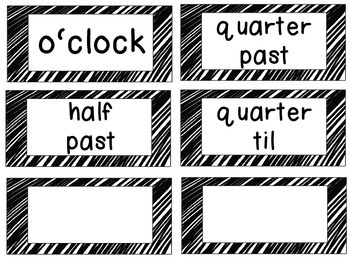 Rock Star Clock Tags & Labels