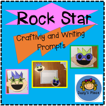 End of the year Rock Star Craftivity and Writing Prompts