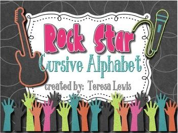 Rock Star Cursive Alphabet