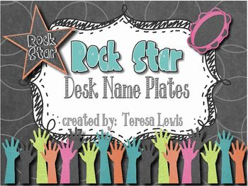 Rock Star Editable Desk Name Plates