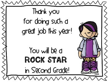 FREEBIE Rock Star End of the Year Thank You Cards Awards Certificate