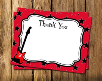 Rock Star Flat Thank You Note Cards