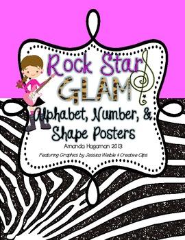 Rock Star GLAM: Alphabet, Number, & Shape Posters
