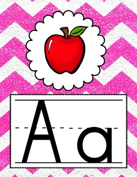 Rock Star GLAM: Alphabet, Number, & Shape Posters