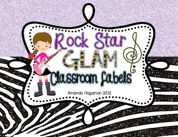 Rock Star GLAM: Book Basket and Classroom Labels (EDITABLE!)