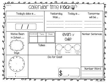 Rock Star GLAM: Calendar Math Kit